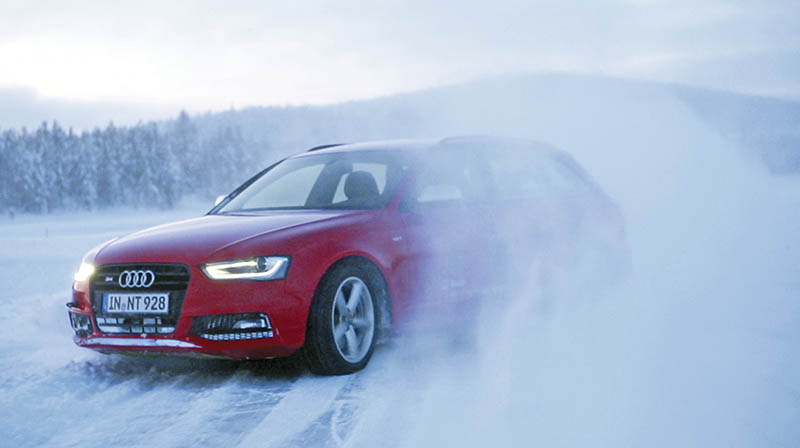 Audi S4 on Ice at  Arjeplog, Sweden