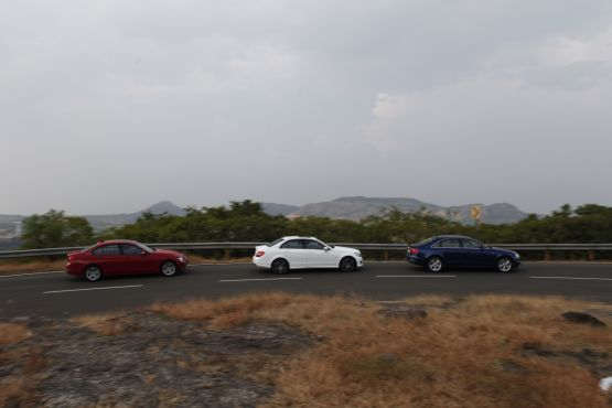 Audi A4 vs BMW 3 Series vs Mercedes C-class shootout 1 web