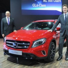 Gauntlet thrown: Mercedes-Benz M-Guard, GLA and CLA45 AMG