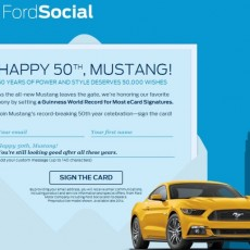 Ford Mustang is 50