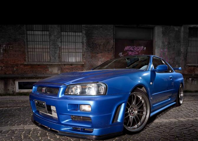 too fast too furious paul walker s nissan skyline gt r r34 up for grabs car india india 39 s. Black Bedroom Furniture Sets. Home Design Ideas