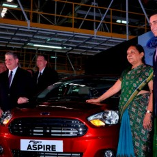 Ford reveal Figo Aspire at Sanand plant inauguration