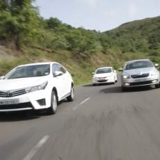 3D Shootout: Toyota Corolla Altis vs Hyundai Elantra vs Skoda Octavia