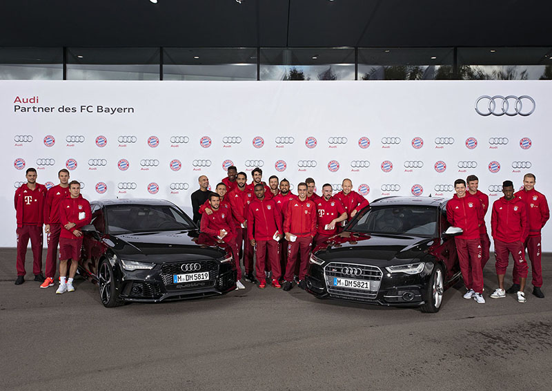 New Audi Cars for FC Bayern Munich Players