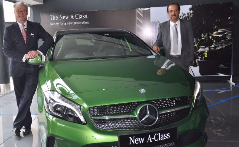 Mr. Roland Folger, Managing Director and CEO, Mercedes Benz India and Mr. Ranjeev Dahuja, Managing Director, Berkeley Motors web