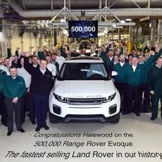 Range Rover Evoque Touches Half a Million Mark