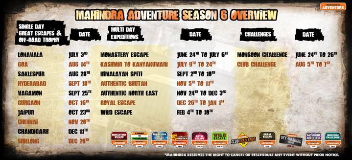 Mahindra Adventure Calendar 2016 web