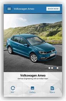 2016 VW Ameo app web 2