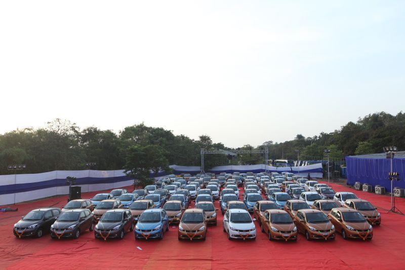 Tata Motors celebrate the sale of 100 Tiagos