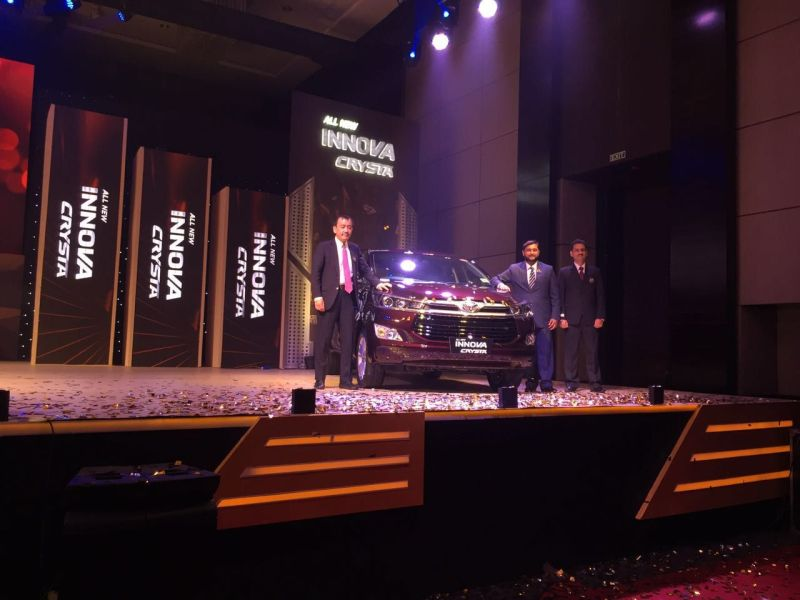 Toyota Launch the Innova Crysta in India
