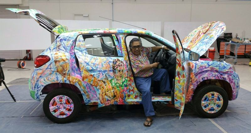 Artist Sen Shombit unveils Renault Kwid art car
