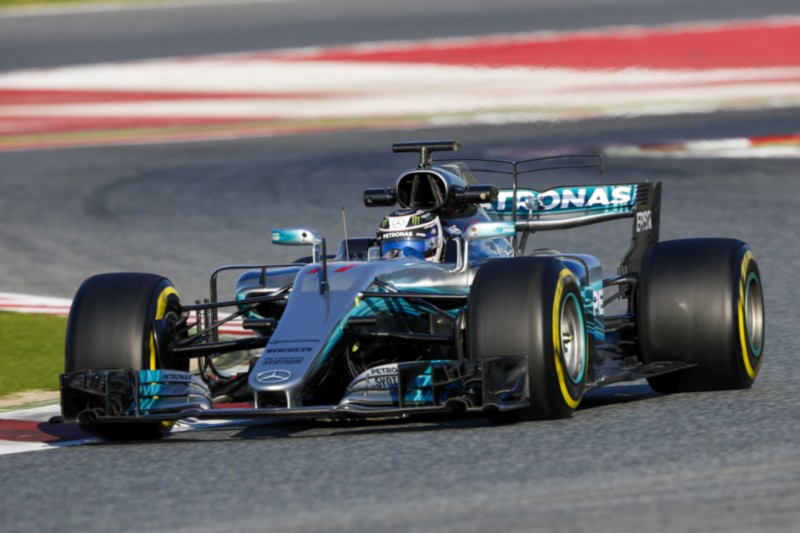 BOTTAS Valtteri (fin) Mercedes W08 Hybrid EQ Power+ team Mercedes GP action during Formula 1 winter tests 2017 at Barcelona, Spain from February 27 to March 02 - Photo Florent Gooden / DPPI
