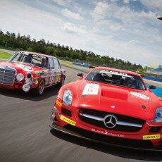 Kenneth Heyer unterwegs auf den Spuren seines Vaters Hans Heyer: SLS AMG GT3 im Look des legendären Mercedes-Benz 300 SEL 6.8 AMG ;  Kenneth Heyer follows in the footsteps of his father Hans Heyer: SLS AMG GT3 in the look of the legendary Mercedes-Benz 300 SEL 6.8 AMG;