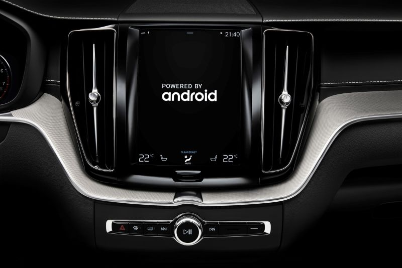 Volvo with Android OS and Google services-web