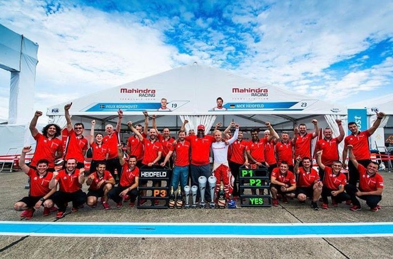 new, car, india, mahindra, racing, formula e, podium, win, felix, rosenqvist, nick, heidfeld, news