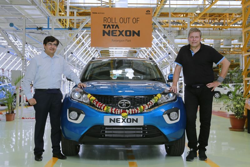 Tata Nexon compact SUV production begins; launch this festive season