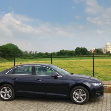 Taking in the Taj in the Audi A4