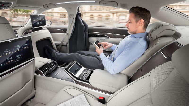 2018 Audi A8 first drive rear seats