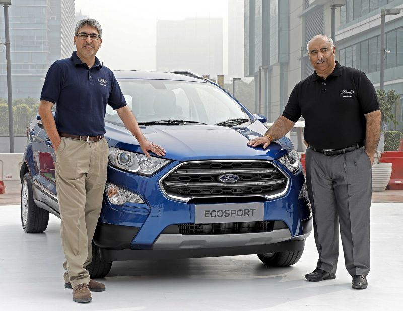 Anurag Mehrotra, President and MD,Ford India and Vinay Raina, Executive Director-Marketing, Sales and Service, Ford India at the New Ford EcoSport Launch-3