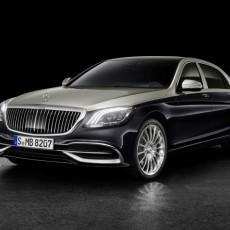 Mercedes-Maybach S 560; Exterieur: Zweifarblackierung Aragonitsilber/Anthrazitblau;Kraftstoffverbrauch kombiniert:  8,8 l/100 km, CO2-Emissionen kombiniert: 198 g/km*  Mercedes-Maybach S 560, exterior: aragonite silver/anthracite blue;fuel consumption combined: 8.8 l/100 km, combined CO2 emissions: 198 g/km*