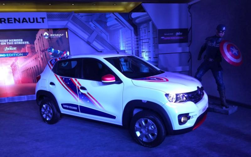 Renault Super Hero Edition Kwid Captain America web