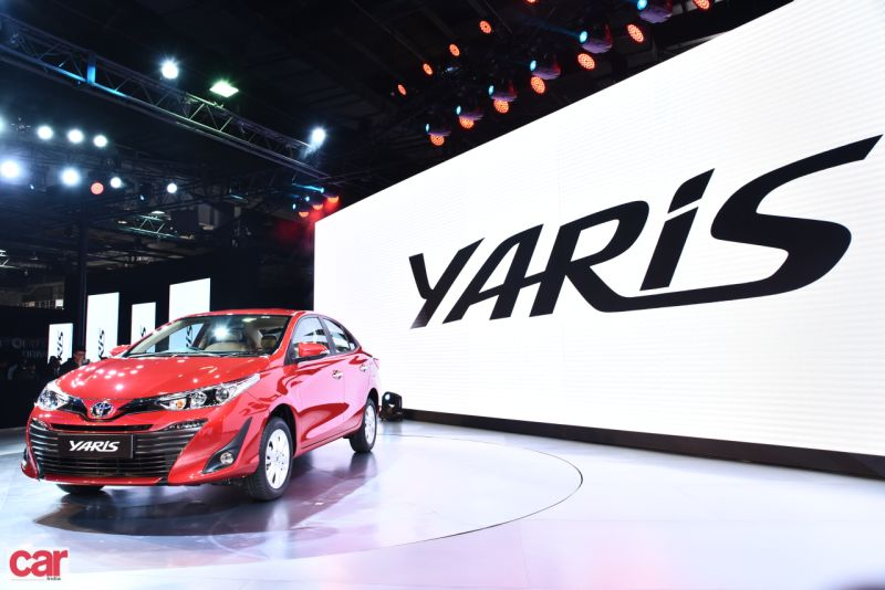 2018 Toyota Yaris sedan in India with Vikram Kirloskar at Auto Expo M2