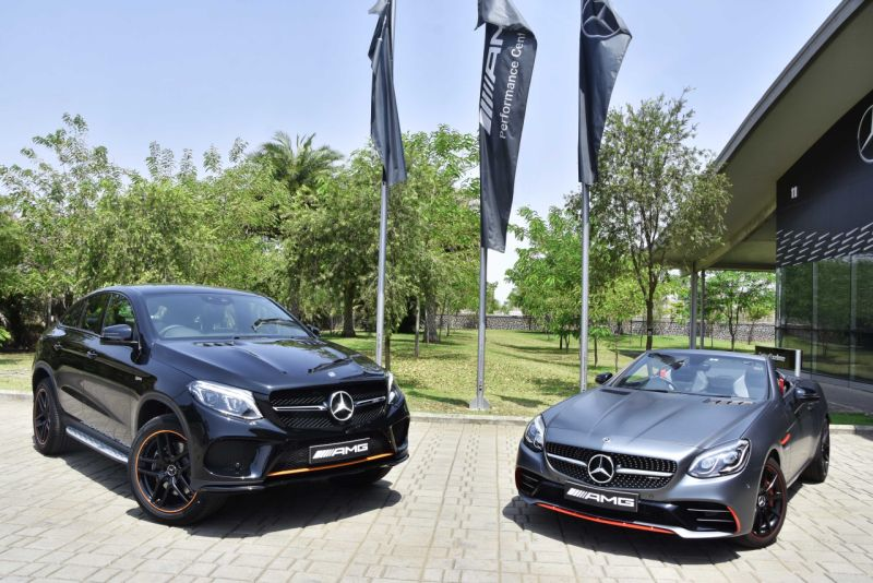 Mercedes-AMG GLE 43 4MATIC Coupe OrangeArt and SLC 43 RedArt Editions launched in India