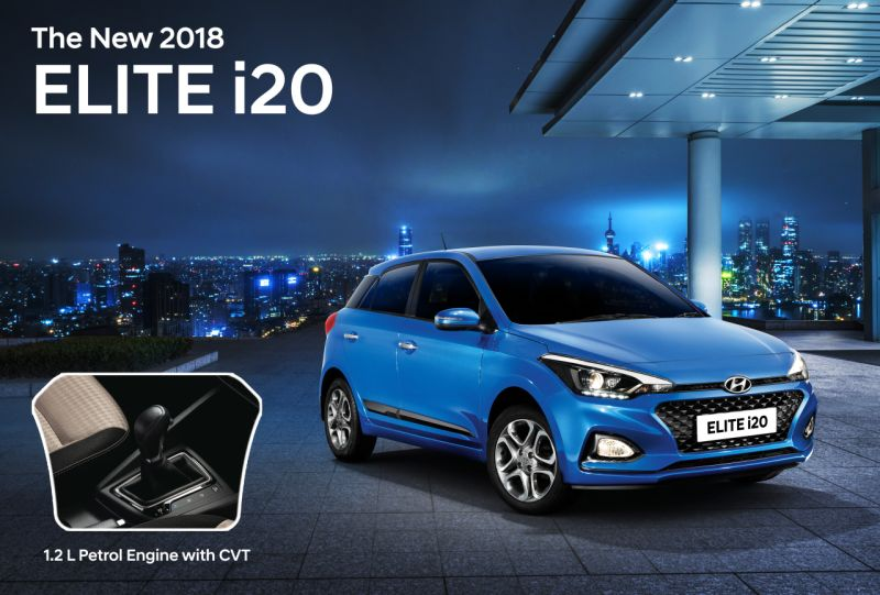 New 2018 Hyundai Elite i20 CVT