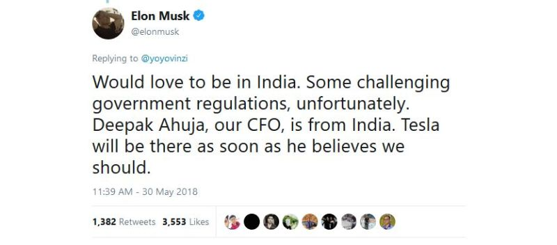 Tesla facing challenges to entering India
