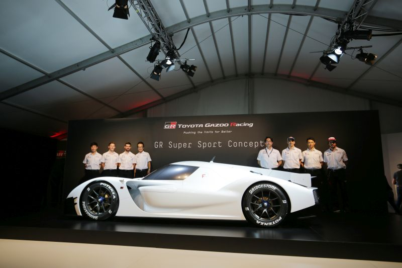 Drivers with GR Supersport Concept  TOYOTA GAZOO  Racing.  Le Mans 24 Hours Race