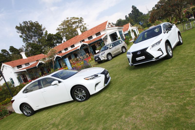 Lexus hybrid range driven in India