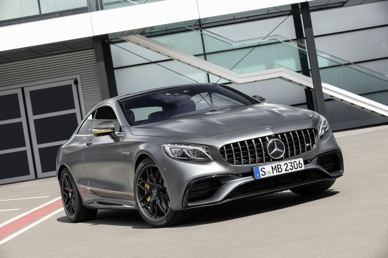 Mercedes-AMG S 63 4MATIC+ Coupé Yellow Night Edition;Kraftstoffverbrauch kombiniert: 9,3 l/100 km; CO2-Emissionen kombiniert: 211 g/km* Mercedes-AMG S 63 Coupé Yellow Night Edition;Fuel consumption combined: 9.3 l/100 km; CO2 emissions combined: 211 g/km*