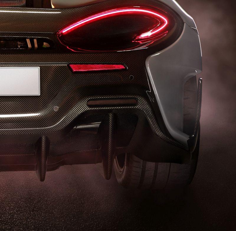 New McLaren rear end