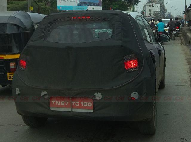Rear design of the new Hyundai Santro