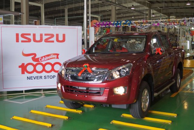 Isuzu Motors Roll Out 10,000th Car From Andhra Pradesh Plant
