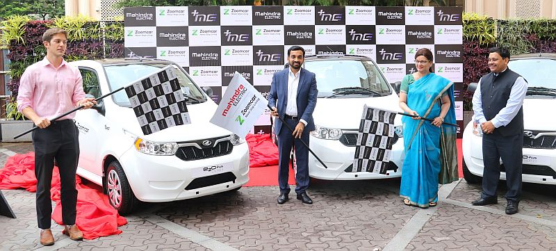 Mahindra Electric - Zoomcar Association announcement in Pune