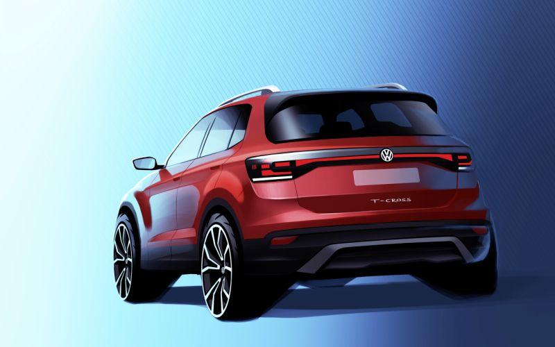 Volkswagen T-Cross design sketch