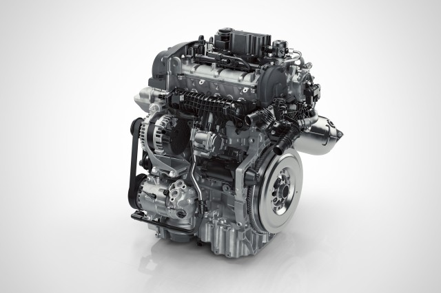 Volvo Drive-E 3-cylinder Petrol engine front