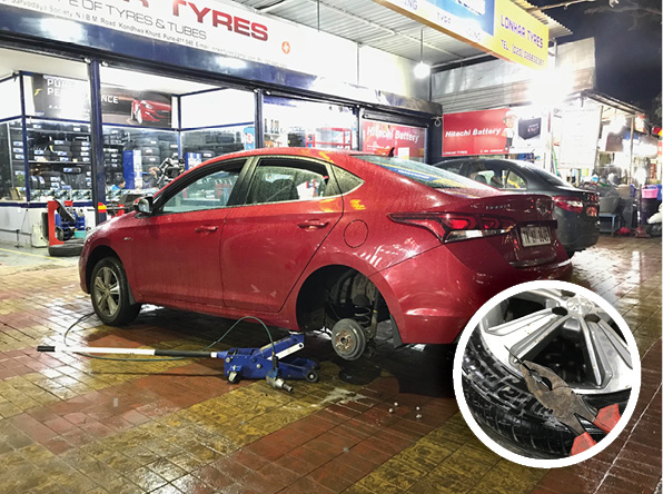 Hyundai Verna long term user review tyre puncture