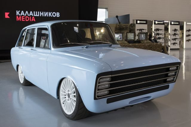 Russia's Kalashnikov Group Reveal Retro Electric Supercar