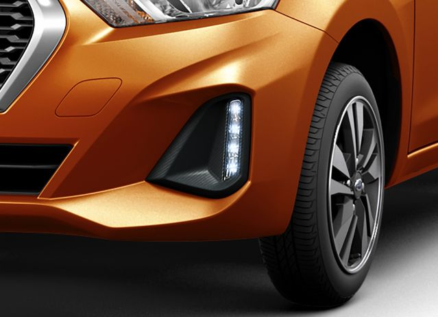 2018 Datsun GO LED DRL and new diamond-cut alloy wheel