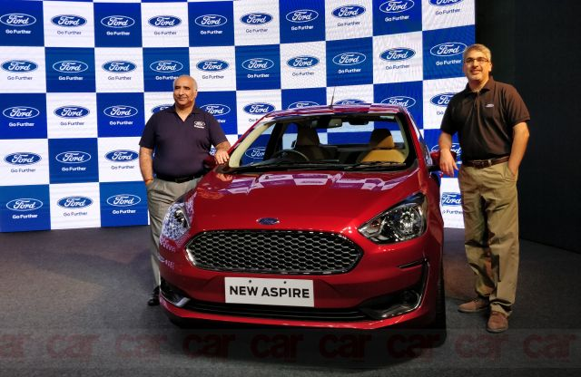 New Ford Aspire launch price at Rs 5.55 lakh in Delhi