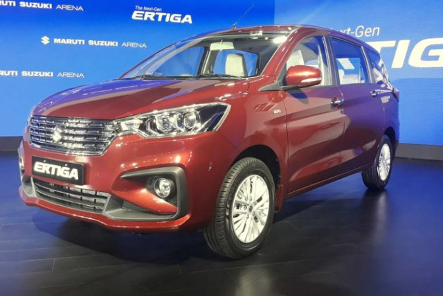 2019 Maruti Suzuki Ertiga Exterior Three Fourth