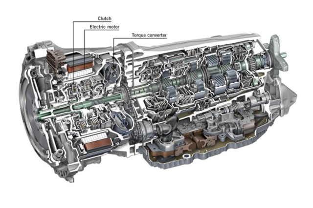 Mercedes latest-generation 9G-TRONIC 9-speed hybrid transmission