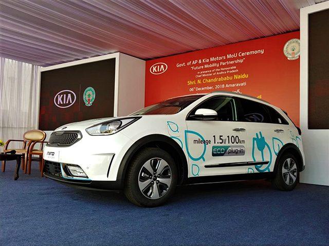 Kia S Electric Ambition Car India Kia Motors India New Mou With Ap