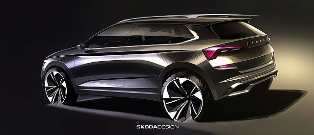 New Škoda Kamiq Design Sketches Exhibited