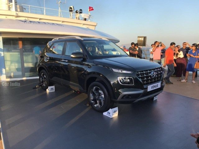 Hyundai Venue unveil in India on cruise ship for first time