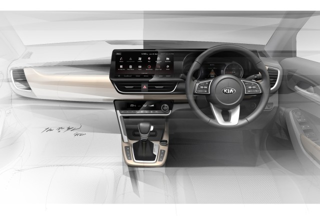New Kia SUV SP2 interior cabin design revealed_m1