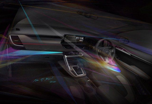 New Kia SUV SP2 interior cabin design revealed_m1