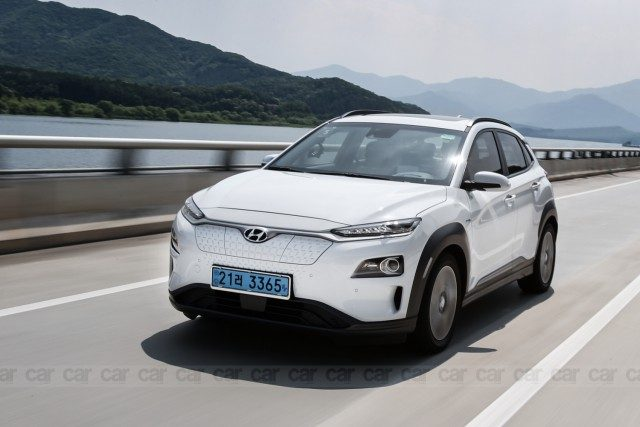 Hyundai Kona electric SUV Drive